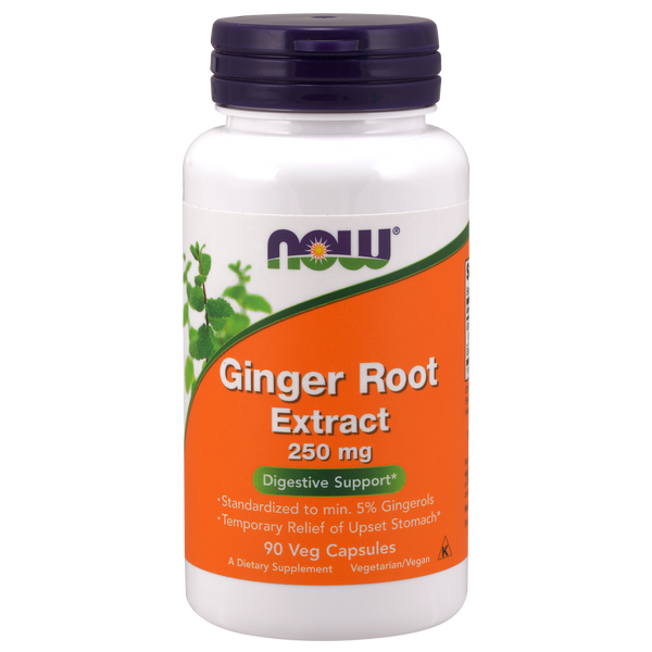 Now Foods Ginger Root Extract 250 mg - 90 Veg Capsules - Health As It Ought to Be