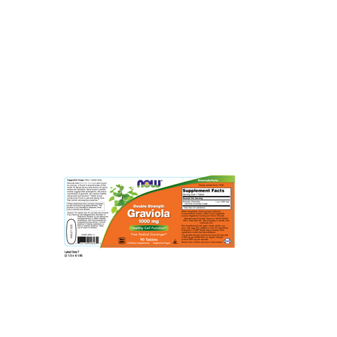 Now Foods Graviola Double Strength 1000 mg - 90 Tablets - Health As It Ought to Be