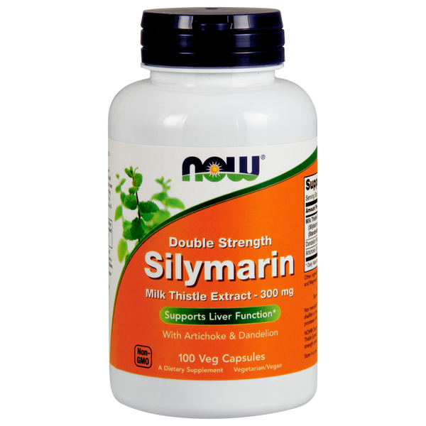 Now Foods Silymarin Double Strength 300 mg - 100 Veg Capsules - Health As It Ought to Be