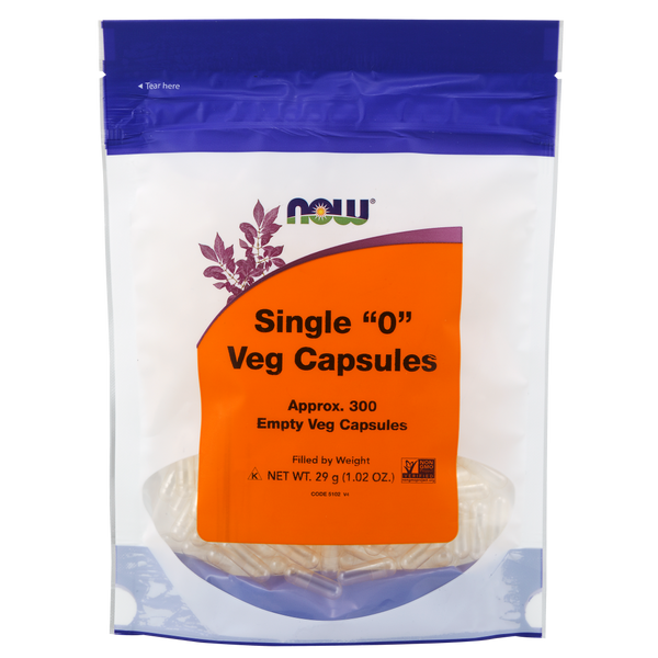 "Now Foods Single ""O"" Veg Capsules - 300 Empty Veg Capsules - Health As It Ought to Be"