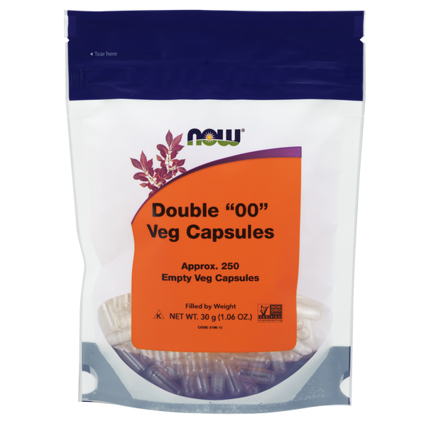"Now Foods Double ""OO"" Veg Capsules - 250 Empty Veg Capsules - Health As It Ought to Be"