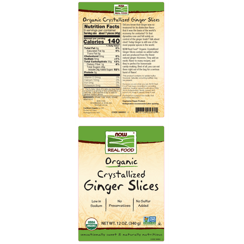 Now Foods Ginger Slices, Crystallized & Organic 12 oz. - Health As It Ought to Be