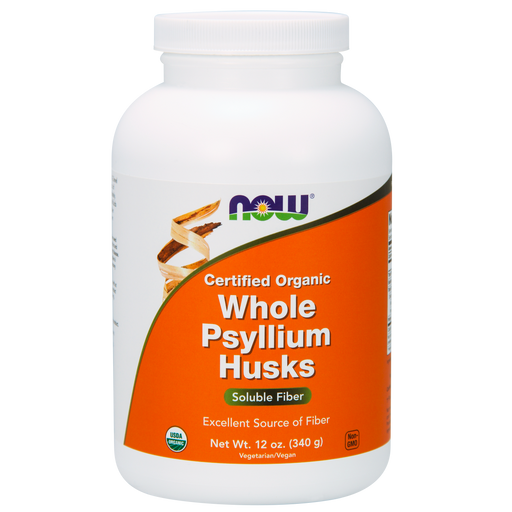 Now Foods Certified Organic Whole Psyllium Husks Powder - 12 oz. - Health As It Ought to Be