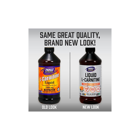 Now Foods L-Carnitine Liquid 1000 mg - 16 oz. - Health As It Ought to Be