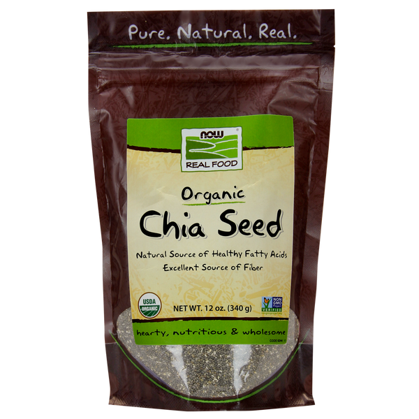 Now Foods Chia Seed, Organic - 12 oz.