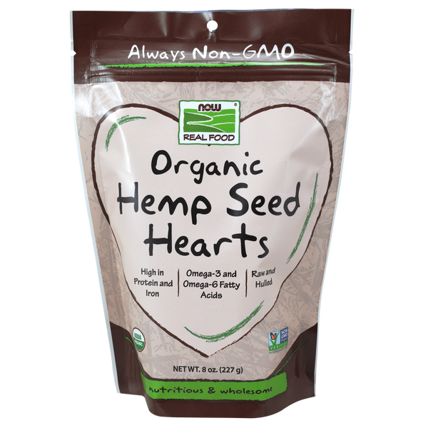 Now Foods Hemp Seed Hearts, Organic - 8 oz.