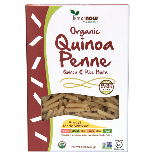 Now Foods Quinoa Penne Pasta, Organic - Health As It Ought to Be