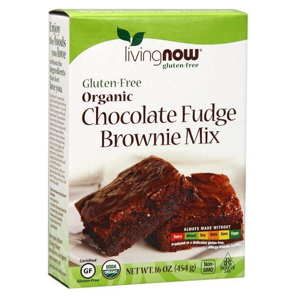 Now Foods Chocolate Fudge Brownie Mix, Organic & Gluten-Free - 16 oz. - Health As It Ought to Be