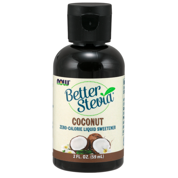 Now Foods BetterStevia® Liquid, Coconut - 2 fl. oz. - Health As It Ought to Be
