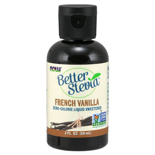 Now Foods Better Stevia Liquid Sweetener, French Vanilla - 2 fl. oz. - Health As It Ought to Be