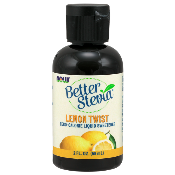 Now Foods BetterStevia® Liquid, Lemon Twist - Health As It Ought to Be