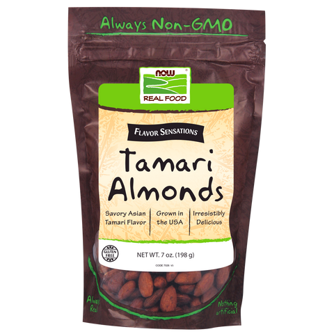 Now Foods Tamari Almonds - 7 oz. - Health As It Ought to Be
