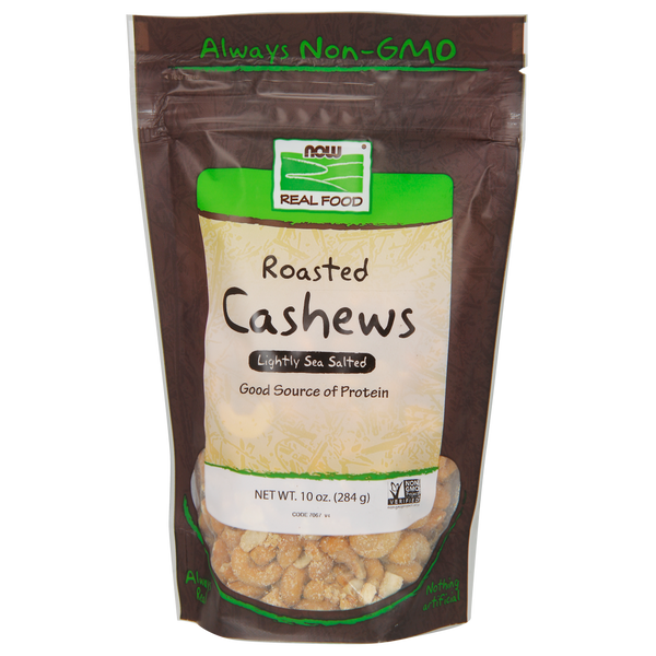 Now Foods Roasted Cashews - 10 oz. - Health As It Ought to Be