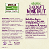 Now Foods Chocolate Monk Fruit Liquid, Organic - Health As It Ought to Be