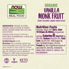 Now Foods Vanilla Monk Fruit Liquid, Organic - Health As It Ought to Be