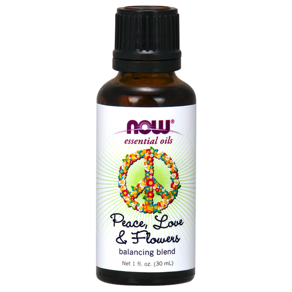 Now Foods Essential Oil Blend, Peace Love and Flowers - 30 ml
