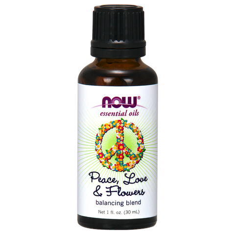 Now Foods Essential Oil Blend, Peace Love and Flowers - 30 ml - Health As It Ought to Be