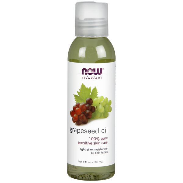 Now Foods Grapeseed Oil - 4 fl. oz. - Health As It Ought to Be