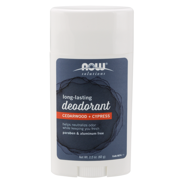 Now Foods Long-Lasting Deodorant Stick, Cedarwood + Cypress - 2.2 oz. - Health As It Ought to Be