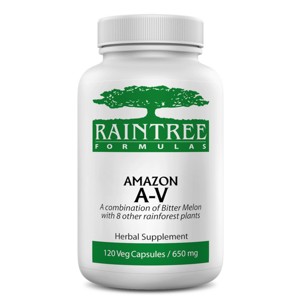 RainTree Formulas or Rainforest Pharmacy Amazon A-V 650 mg - 120 Vegetarian Capsules - Health As It Ought to Be