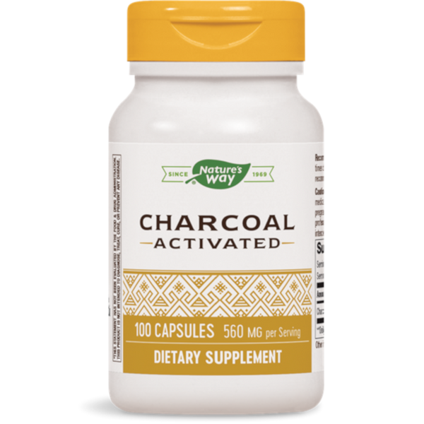 Nature's Way Activated Charcoal 100 Capsules - Health As It Ought to Be