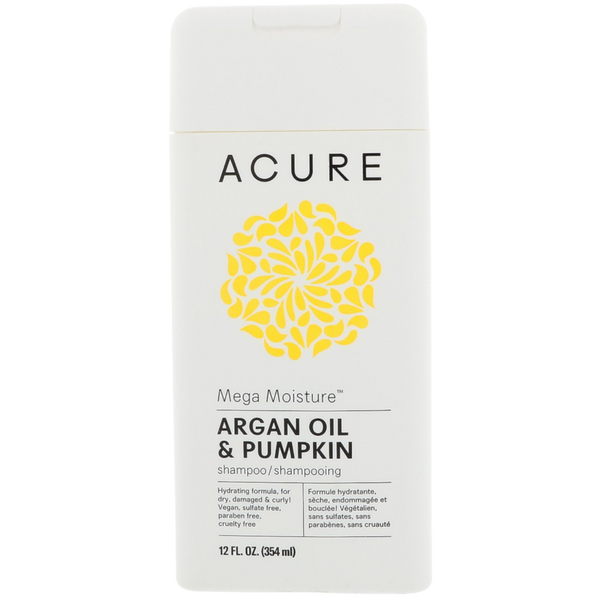 Acure Mega Moisture Argan Oil & Pumpkin Shampoo - 12 fl oz. - Health As It Ought to Be