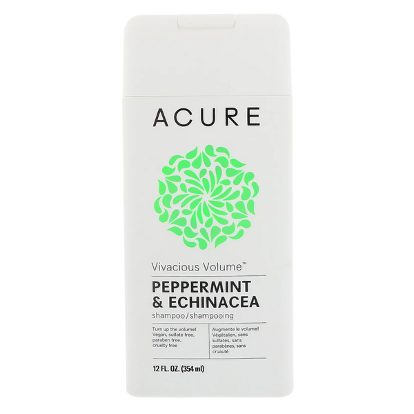 Acure Vivacious Volume Peppermint & Echinacea Shampoo - 12 fl oz. - Health As It Ought to Be