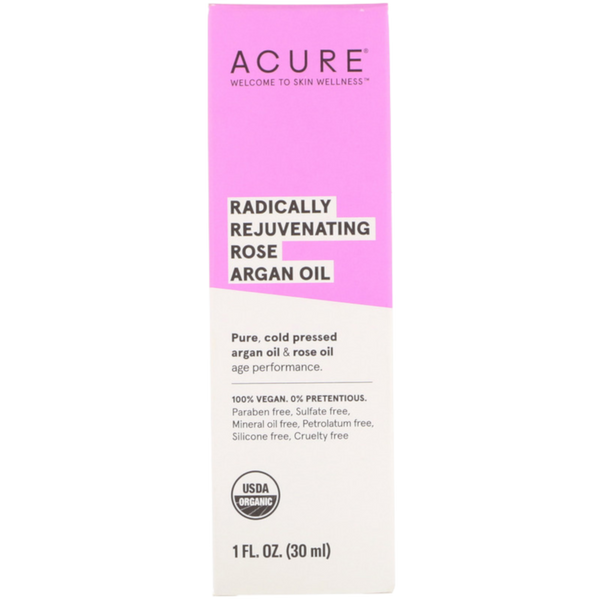 Acure Radically Rejuvenating Rose Argan Oil - 1 fl oz. - Health As It Ought to Be