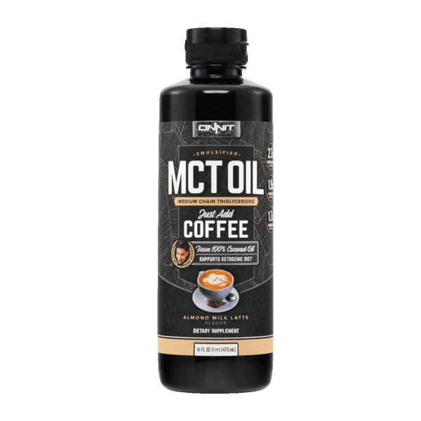 Onnit Emulsified MCT Oil, Almond Milk Latte - 16 fl oz. - Health As It Ought to Be