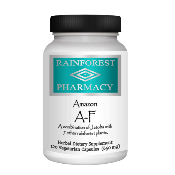 RainTree Formulas or Rainforest Pharmacy Amazon A-F 650 mg - 120 Vegetarian Capsules - Health As It Ought to Be