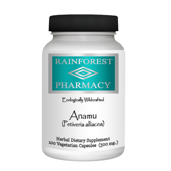 RainTree Formulas or Rainforest Pharmacy Anamu 500 mg - 100 Vegetarian Capsules - Health As It Ought to Be