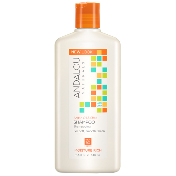 Andalou Naturals Argan Oil & Shea Moisture Rich Shampoo - 11.5 fl oz. - Health As It Ought to Be
