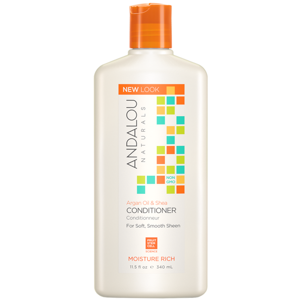 Andalou Naturals Argan Oil & Shea Moisture Rich Conditioner - 11.5 fl oz. - Health As It Ought to Be