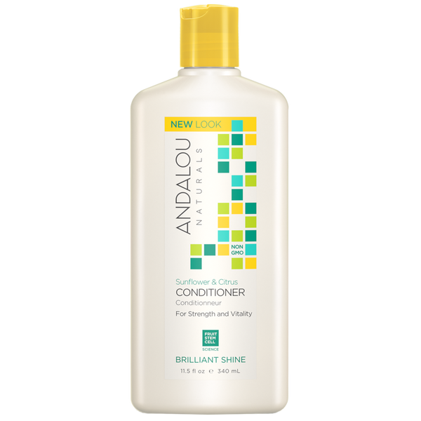 Andalou Naturals Sunflower & Citrus Brilliant Shine Conditioner - 11.5 fl oz. - Health As It Ought to Be