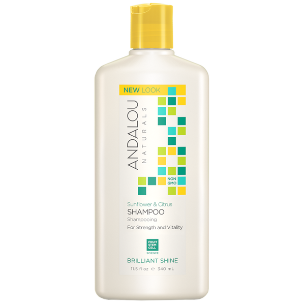 Andalou Naturals Sunflower & Citrus Brilliant Shine Shampoo - 11.5 fl oz. - Health As It Ought to Be