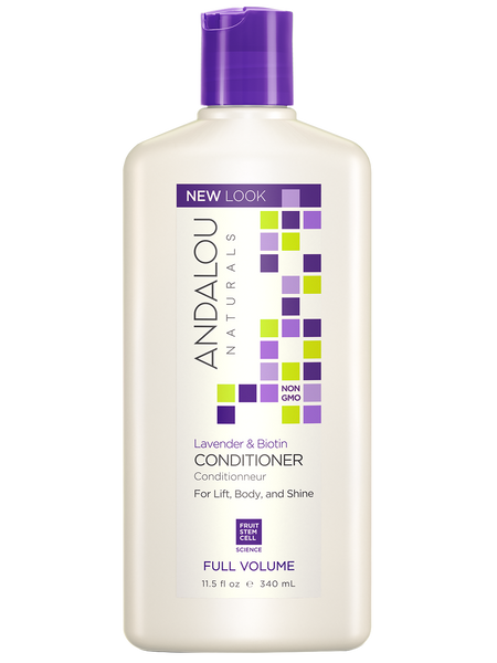 Andalou Naturals Lavender & Biotin Full Volume Conditioner - 11.5 fl oz. - Health As It Ought to Be