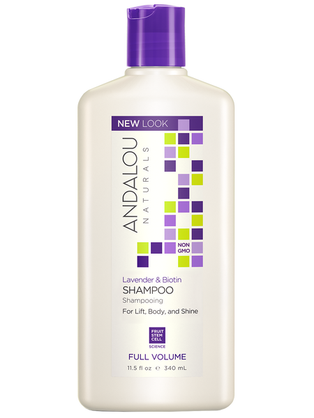 Andalou Naturals Lavender & Biotin Full Volume Shampoo - 11.5 fl oz. - Health As It Ought to Be