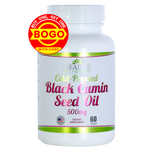 HAIOTB Black Cumin Seed Oil 500 mg - 60 Softgels
