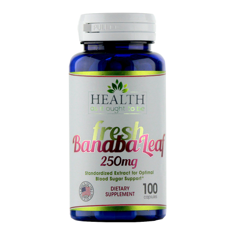 HAIOTB Banaba Leaf 250 mg - 100 Capsules - Health As It Ought to Be