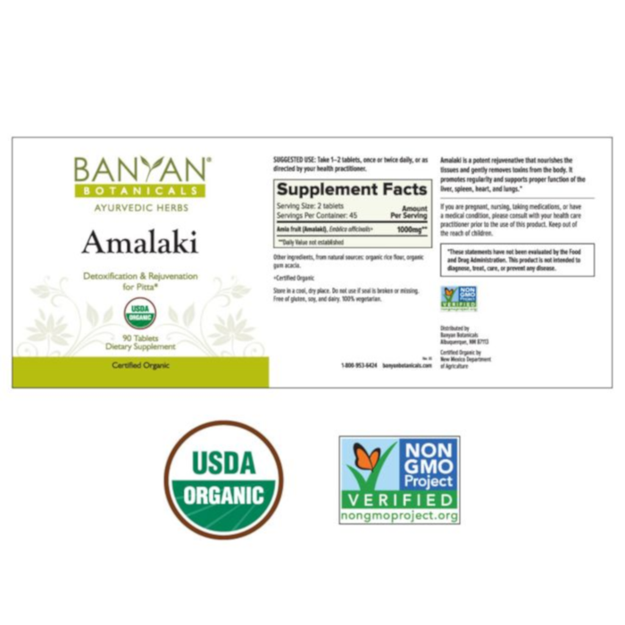 Banyan Botanicals Amalaki - 90 Tablets - Health As It Ought to Be