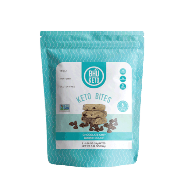 Bhu Keto Bites, Chocolate Chip Cookie Dough - 5.29 oz - Health As It Ought to Be