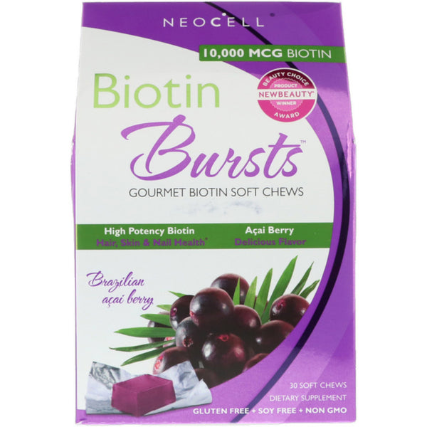 Neocell Biotin Bursts 10000 mcg - 30 Soft Chews