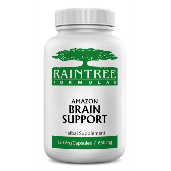 RainTree Formulas or Rainforest Pharmacy Amazon Brain Support 650 mg -120 Veg Capsules - Health As It Ought to Be