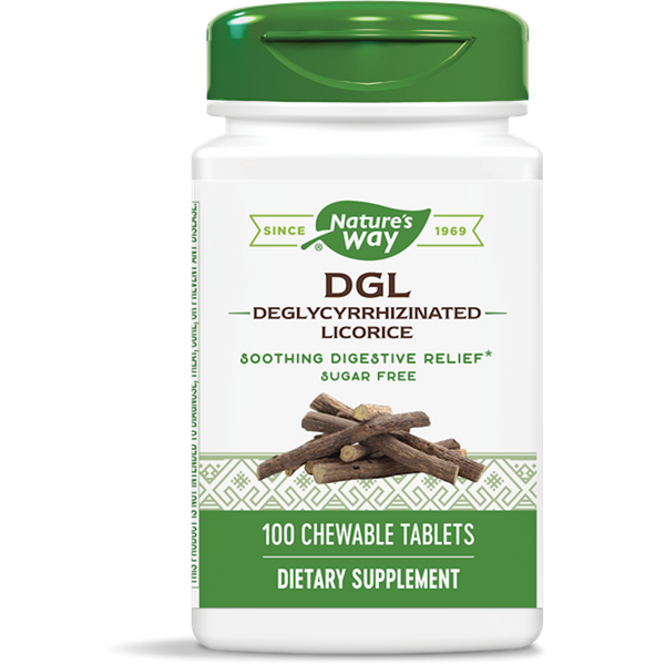 Nature's Way DGL-FF (Fructose Free/Sugarless) - 100 Chewable Tablets - Health As It Ought to Be