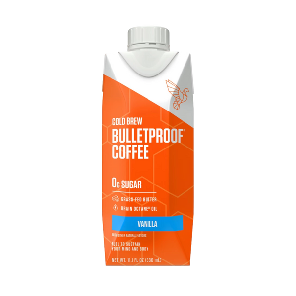 Bulletproof Coffee Cold Brew Vanilla- 11.1 oz. - Health As It Ought to Be