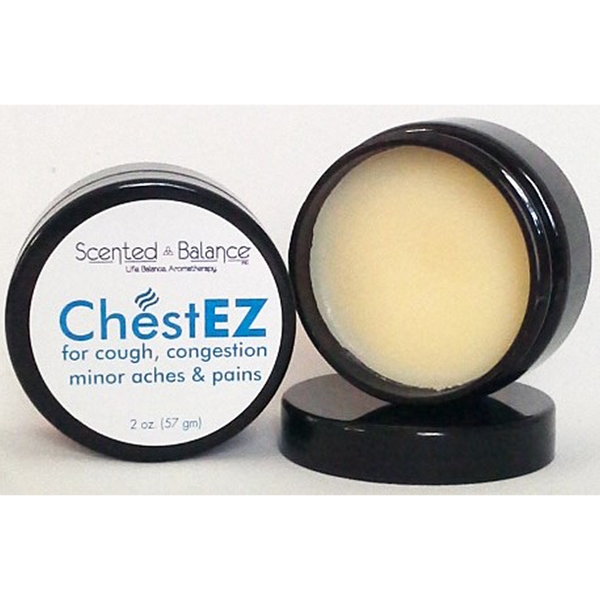 Scented Balance ChestEZ Balm Decongestant Rub for Adults - 2 oz. - Health As It Ought to Be