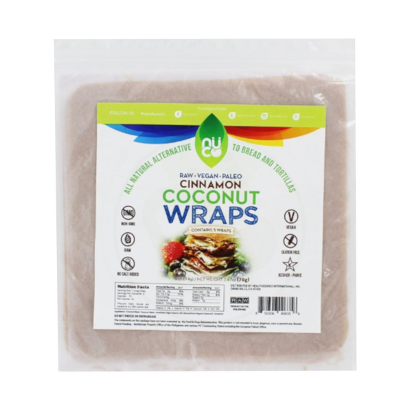 Nuco Organic Coconut Wraps Cinnamon - 5 Wraps - Health As It Ought to Be