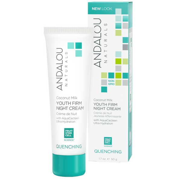 Andalou Naturals Coconut Milk Youth Firm Night Cream - 1.7 oz. - Health As It Ought to Be