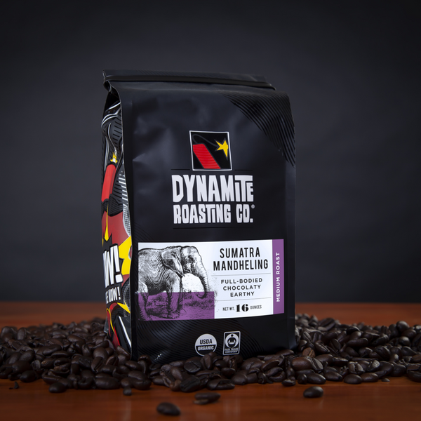 Dynamite Roasting Sumatra Mandheling Medium Roast - 16 oz. - Health As It Ought to Be