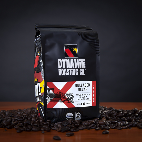 Dynamite Roasting Unleaded Decaf Blend Medium Roast - 16 oz. - Health As It Ought to Be